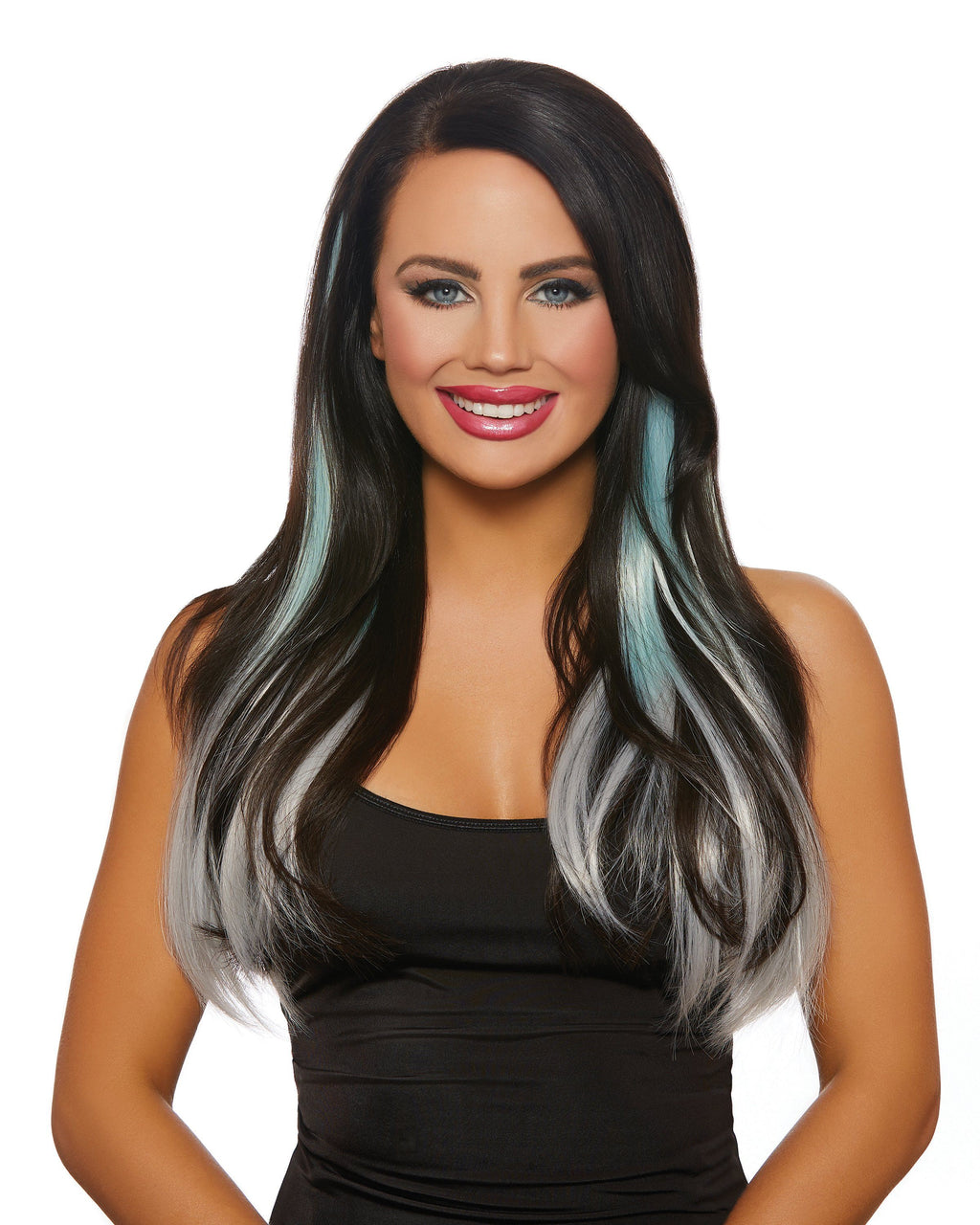Long Straight Ombré Three-Piece Hair Extensions Hair Extensions Dreamgirl Costume