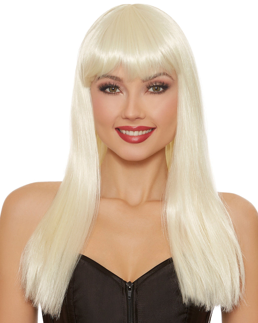 Long Straight Platinum Blonde Wig Wig Dreamgirl Costume