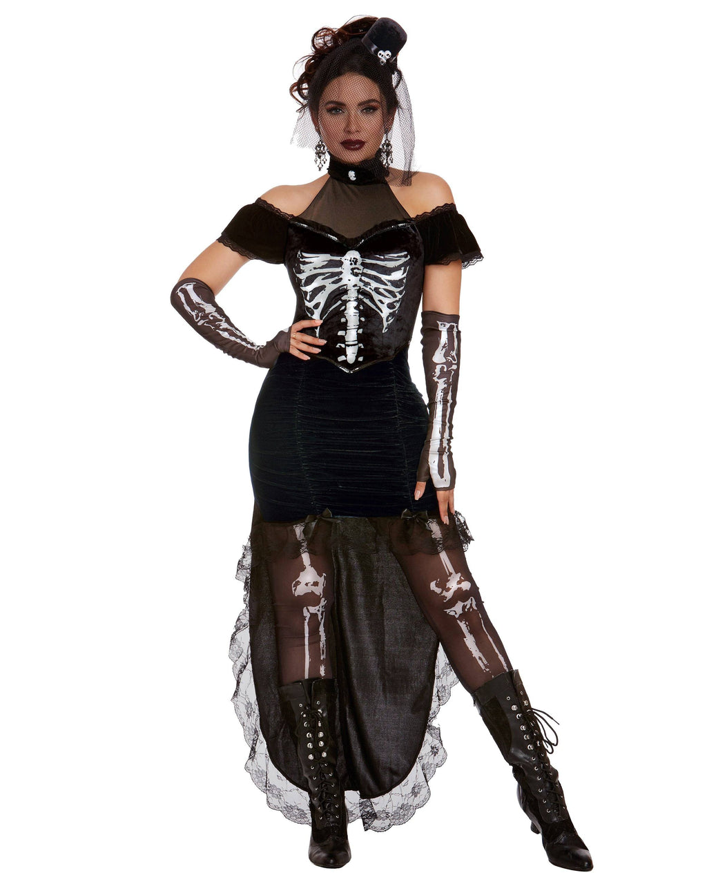 Madame Skeleton Women's Costume Dreamgirl Costume