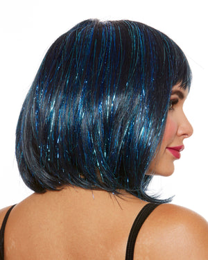 Medium Length Bob With Tinsel Wig Dreamgirl Costume