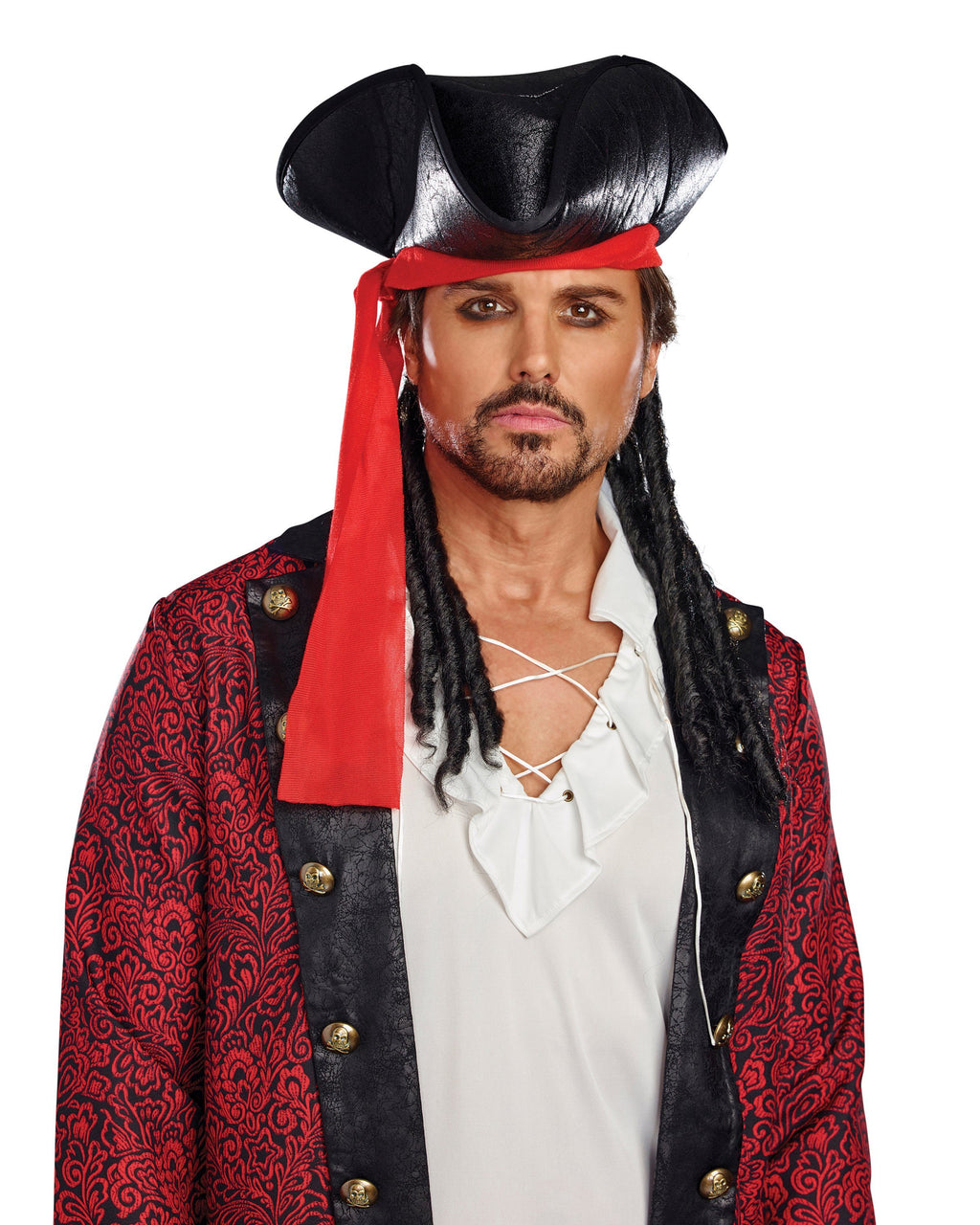 Men's Pirate Hat Headpiece Dreamgirl Costume