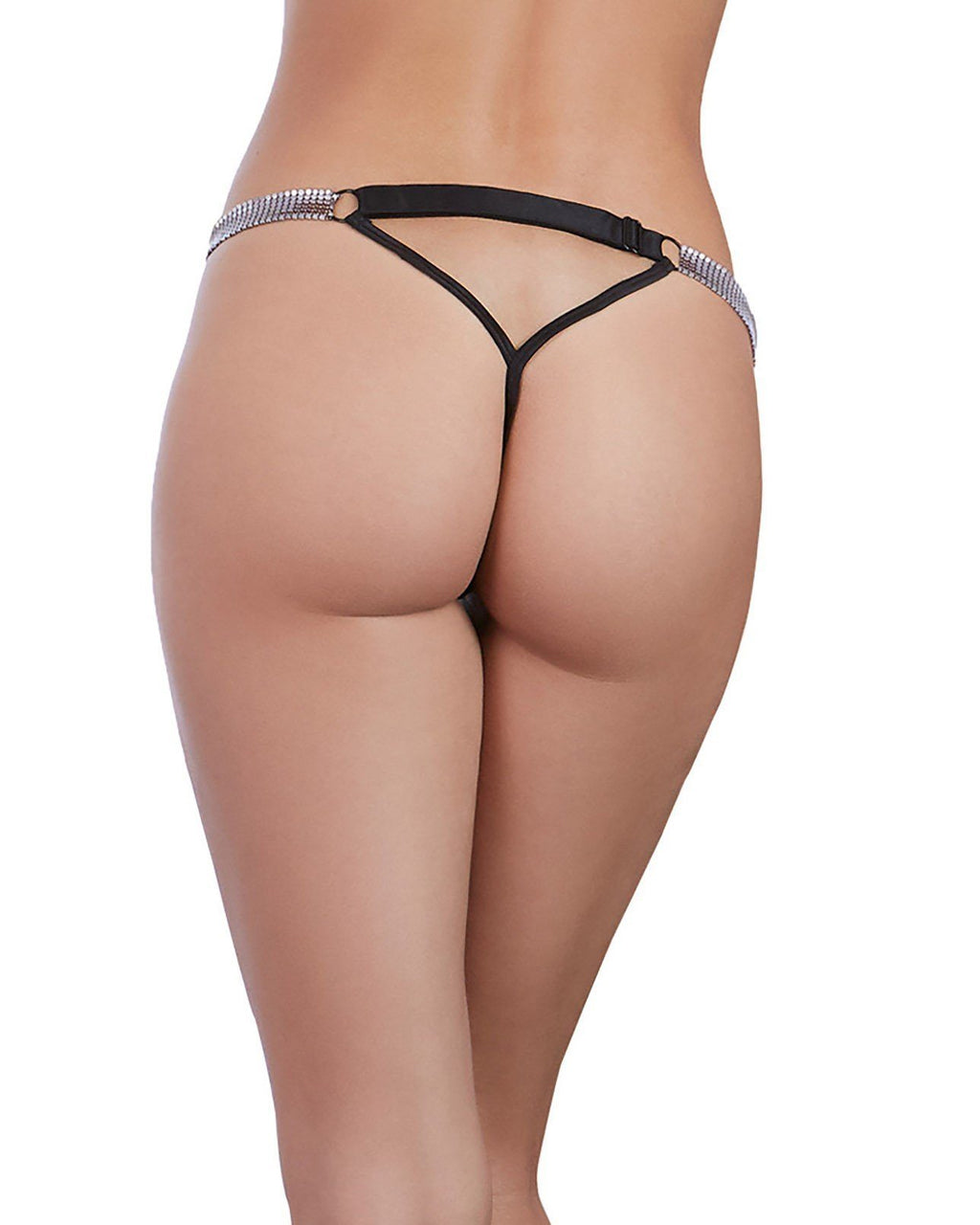 Microfiber G-String with Chainmail Hip Strap Panty Dreamgirl International