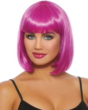 Mid-Length Bob Wig Wig Dreamgirl Costume Adjustable Magenta