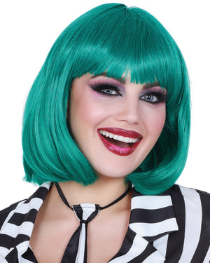 Mid-Length Bob Wig Wig Dreamgirl Costume Adjustable Teal
