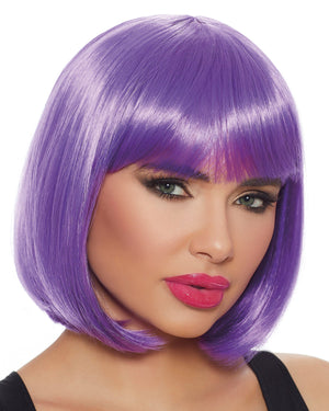 Mid-Length Bob Wig Wig Dreamgirl Costume Adjustable Ultra Violet
