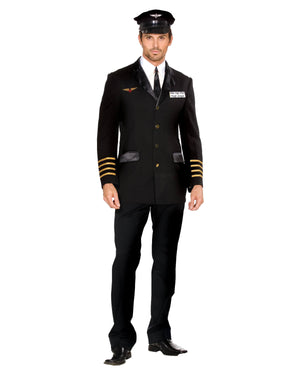 "Mile-High Pilot ""Hugh Jorgan"" Men's Costume Dreamgirl Costume"