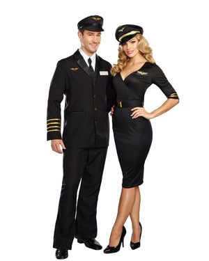 Mile-High Pilot 'Hugh Jorgan' Men's Costume Dreamgirl Costume