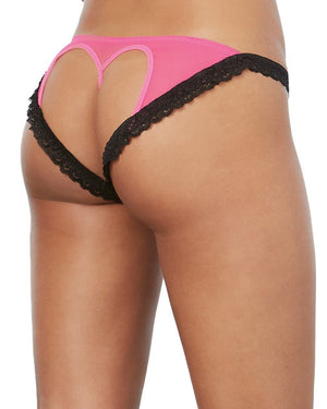 Open Back Bikini Panty Panty Dreamgirl International S Hot Pink / Black