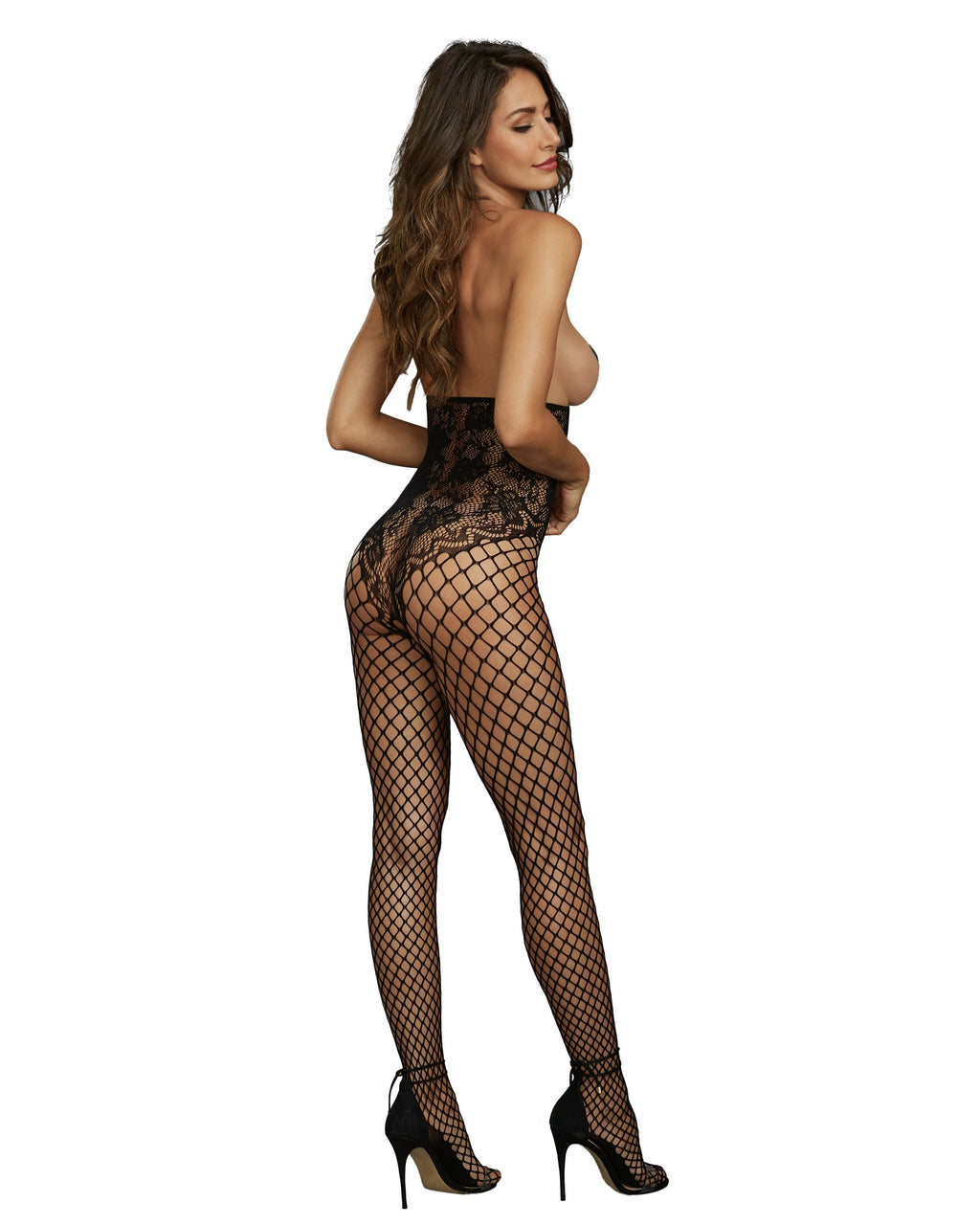 Open-Cup Halter Bodystocking Bodystocking Dreamgirl International