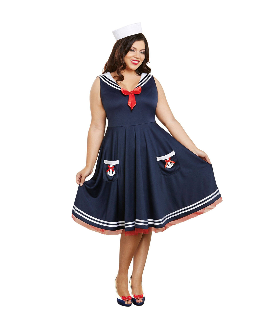 Plus Size All Aboard Women's Costume Dreamgirl Costume
