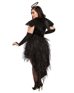 Plus Size Angel of Darkness Women's Costume Dreamgirl Costume