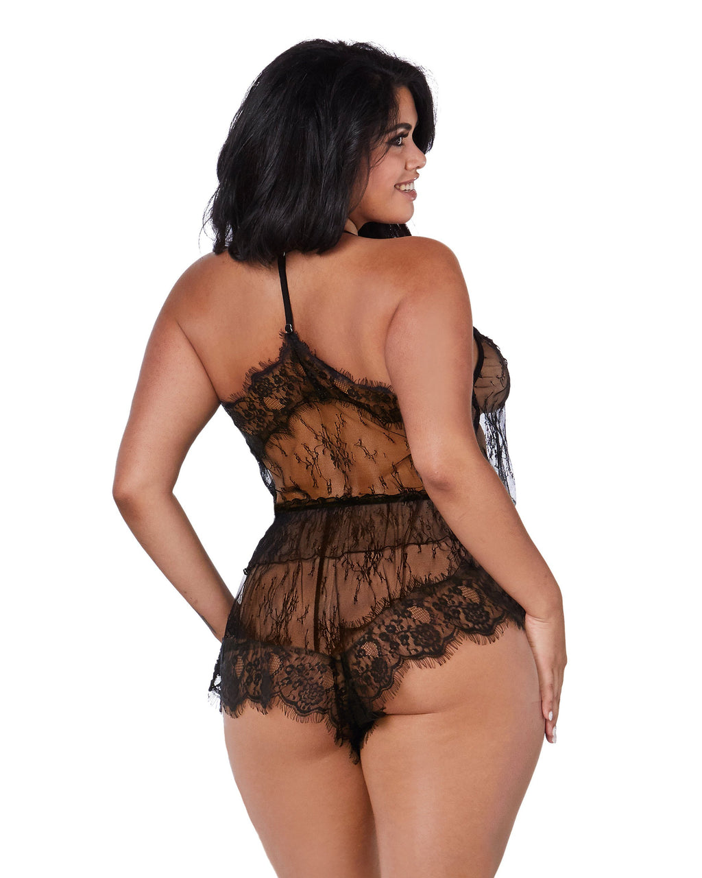 Plus Size Delicate Floral Lace Camisole & Short Set Camisole Set Dreamgirl International