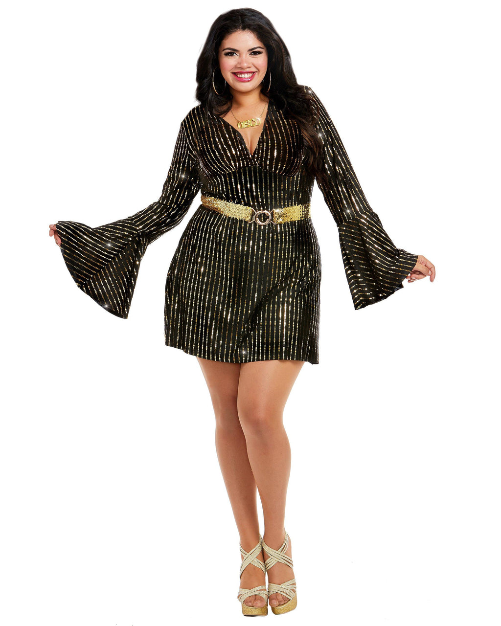 Plus Size Disco Babe Women's Costume Dreamgirl Costume