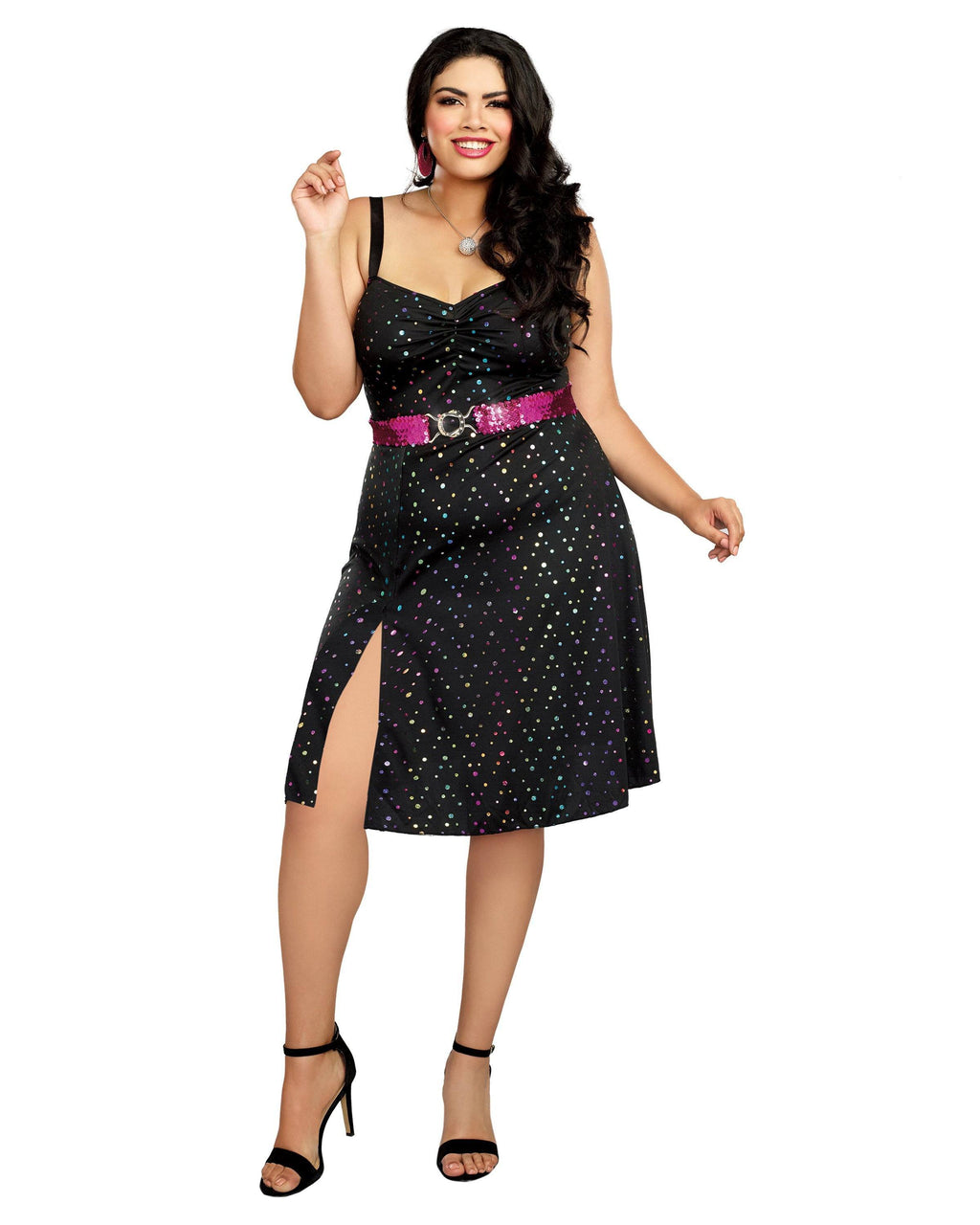 Plus Size Disco Diva Women's Costume Dreamgirl Costume