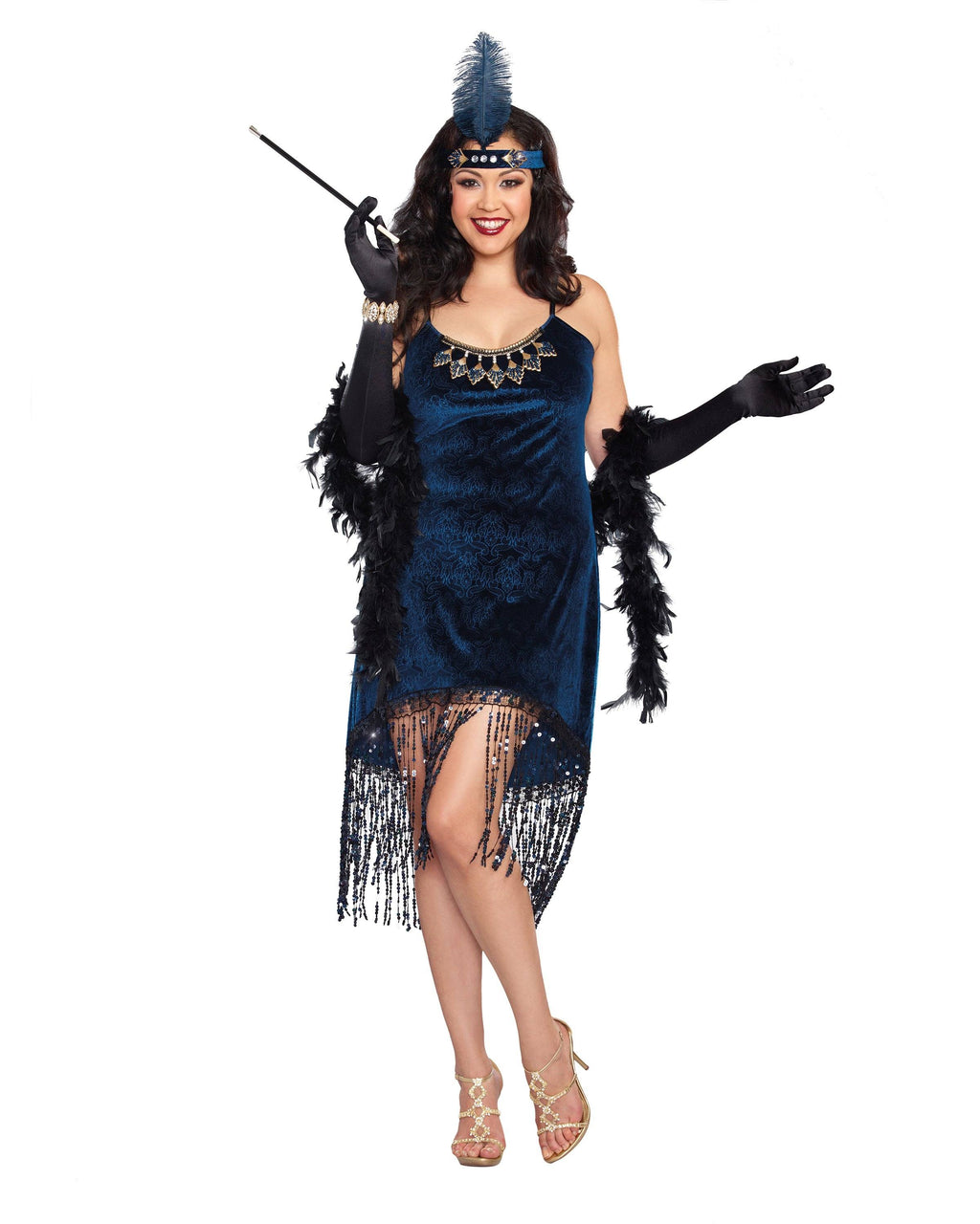 Plus Size Downtown Doll Flapper Women's Costume Dreamgirl Costume
