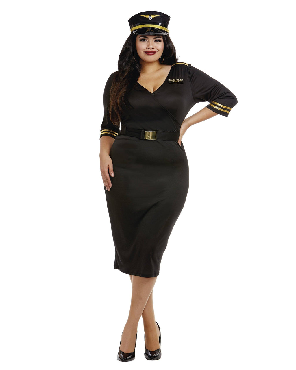 Plus Size Flight Captain Women's Costume Dreamgirl Costume
