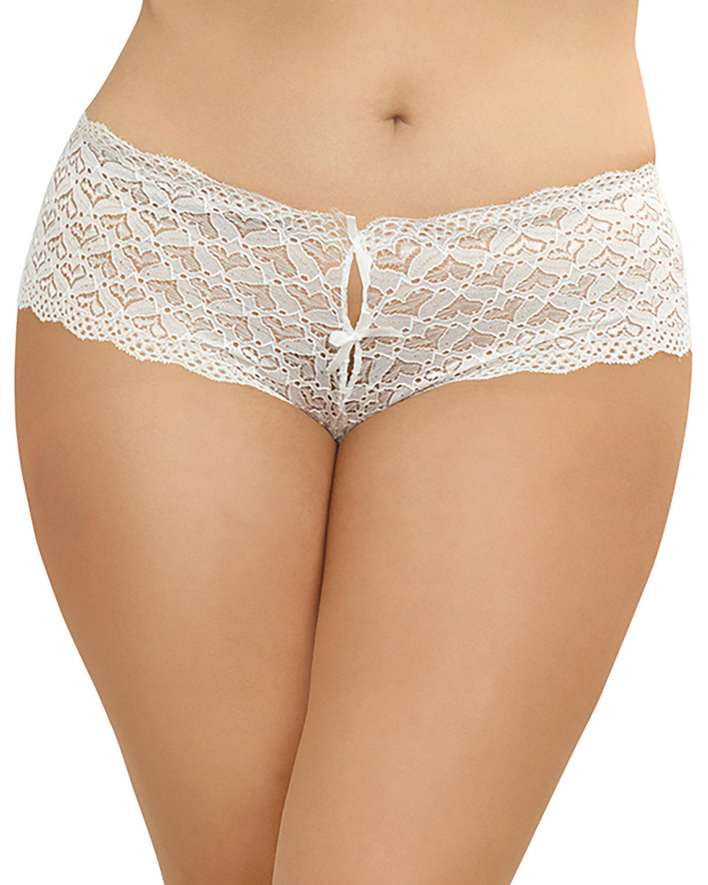 Plus Size Heart Cutout Lace Panty Panty Dreamgirl International