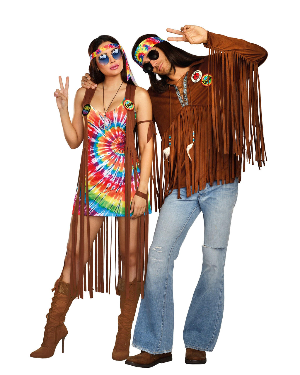Plus Size Hippie Hottie Women's Costume Dreamgirl Costume