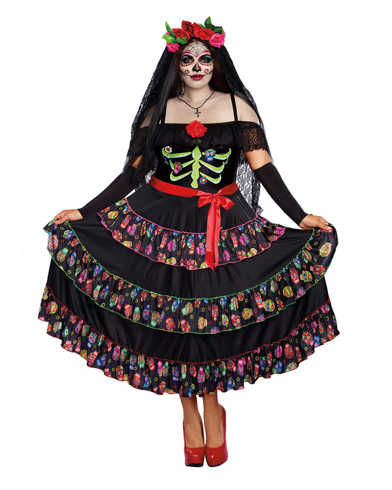 Plus Size Lady of the Dead Women's Costume Dreamgirl Costume