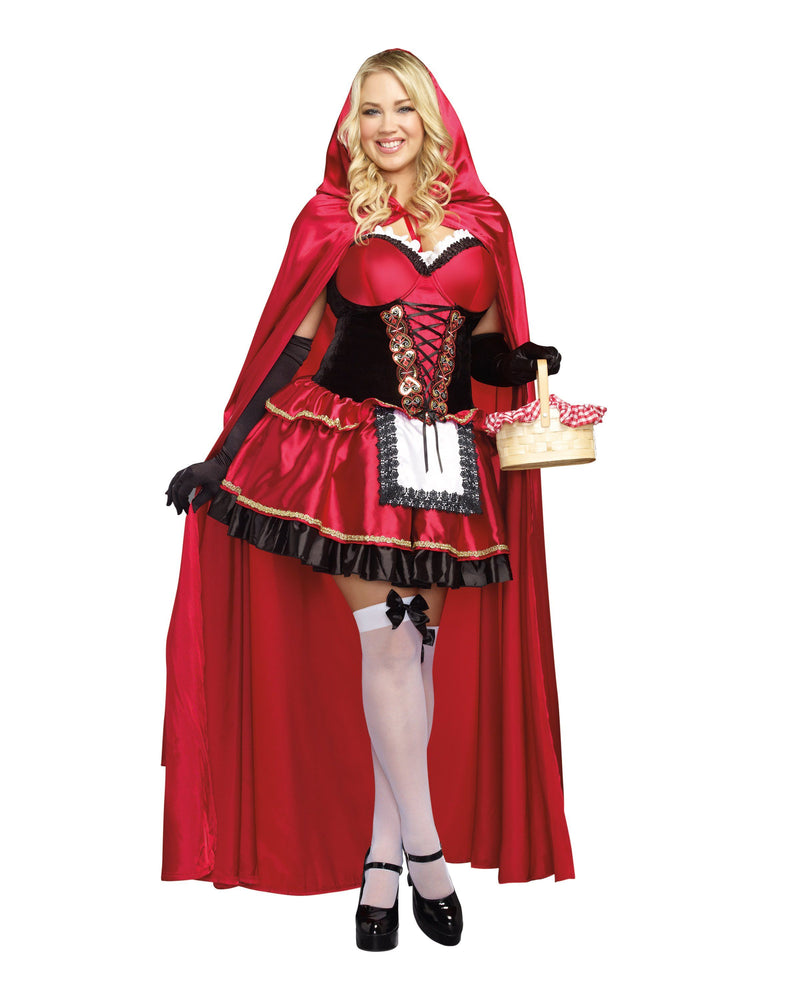 Plus Size Little Red Women's Costume Dreamgirl Costume