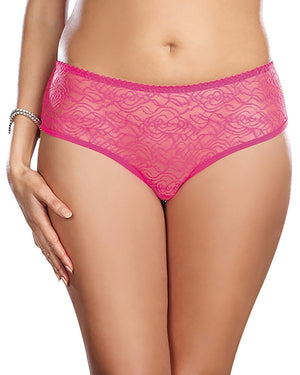 Plus Size Ruffle Back Crotchless Panty Panty Dreamgirl International