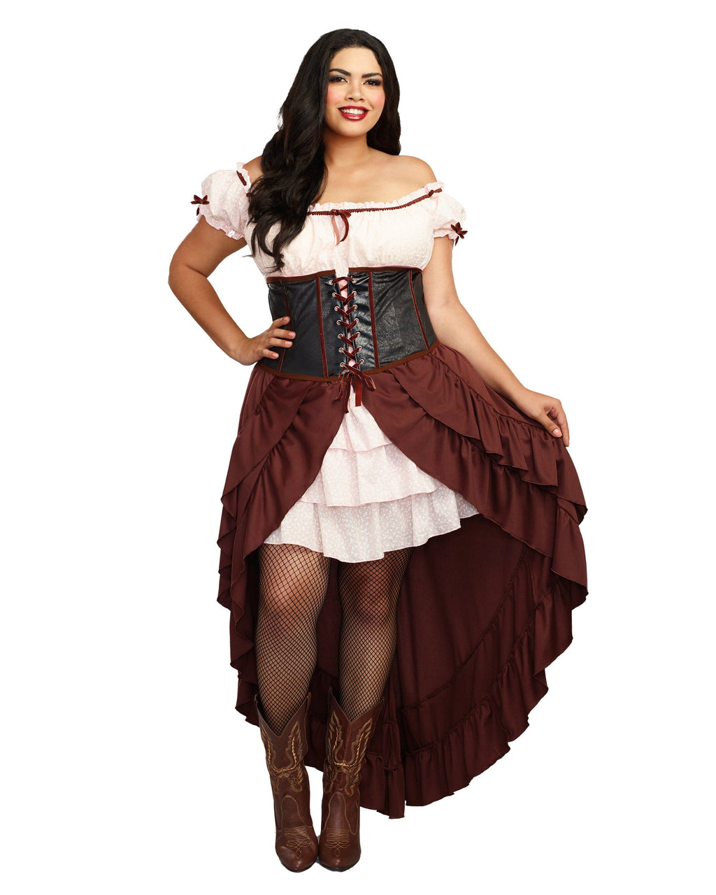 Plus Size Saloon Gal Women's Costume Dreamgirl Costume