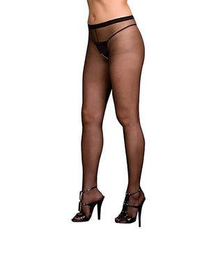 Plus Size Sheer Crotchless Pantyhose Pantyhose Dreamgirl International