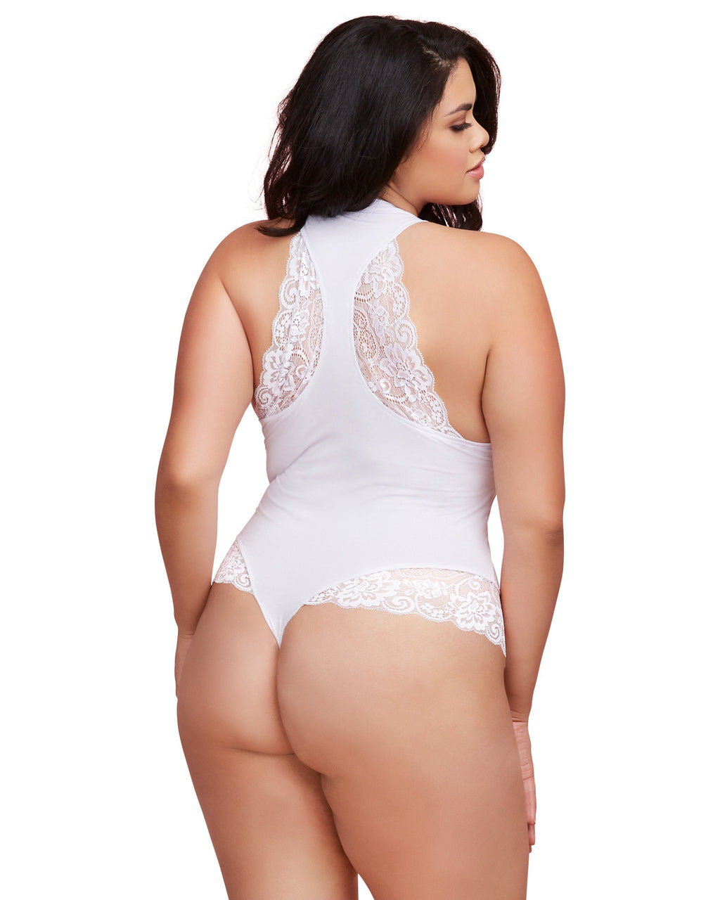 "Plus Size Soft Spandex Jersey ""Wifey"" Bodysuit with Thong Back Bodysuit Dreamgirl International"