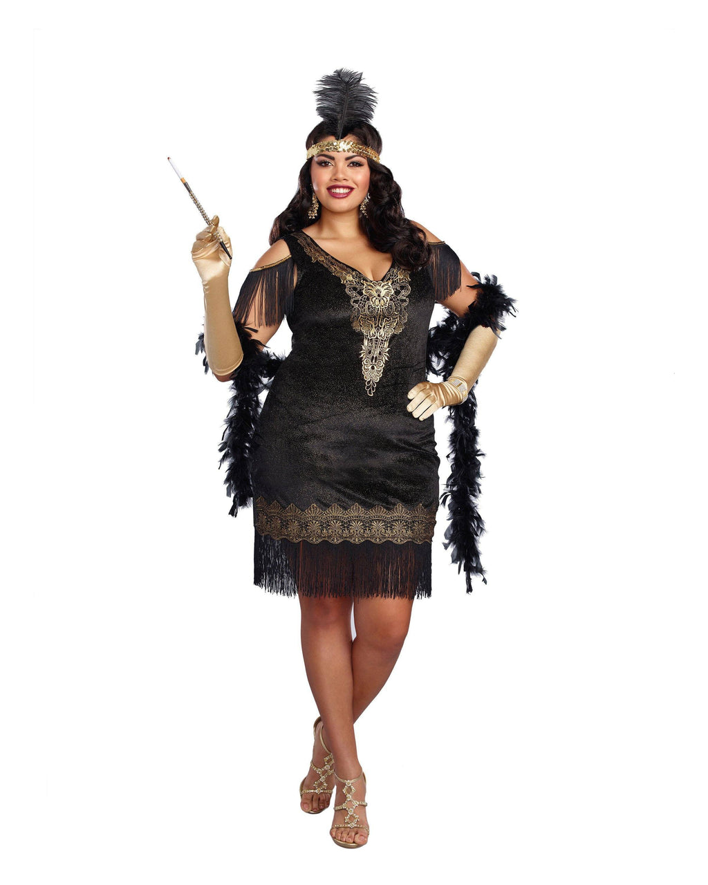 Plus Size Swanky Flapper Women's Costume Dreamgirl Costume
