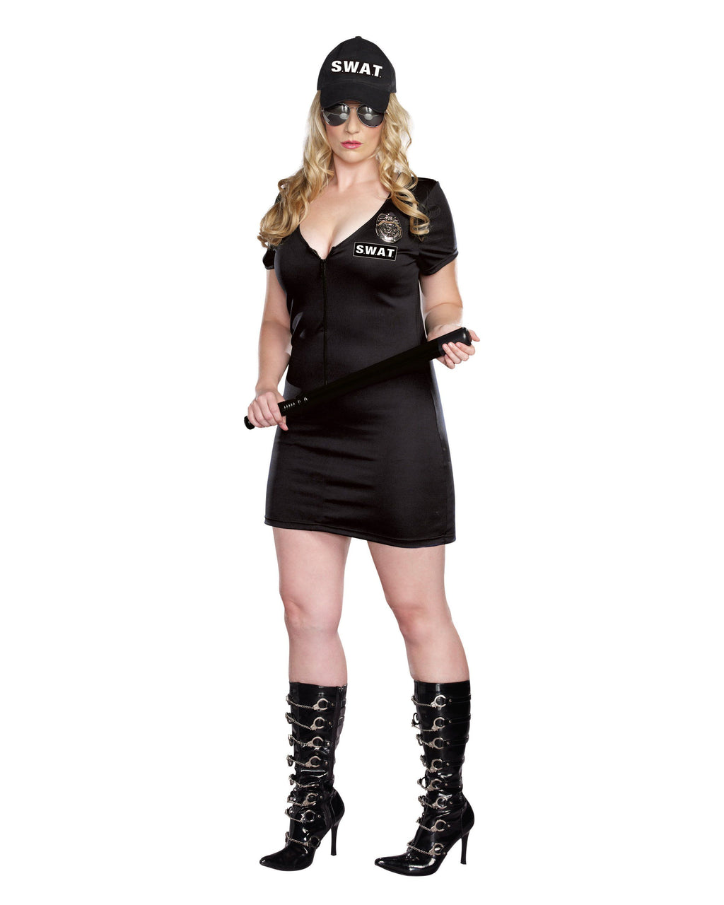 Plus Size SWAT Police - Black Women's Costume Dreamgirl Costume