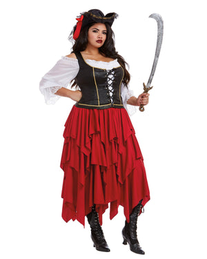 Plus Size Women's Ships Ahoy Women's Costume Dreamgirl Costume