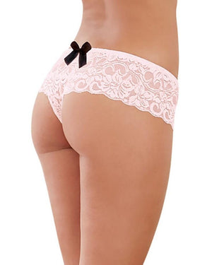Satin Bow Crotchless Boyshort Panty Dreamgirl International