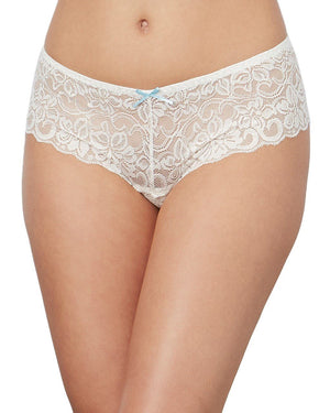 Satin Bow Crotchless Boyshort Panty Dreamgirl International S White