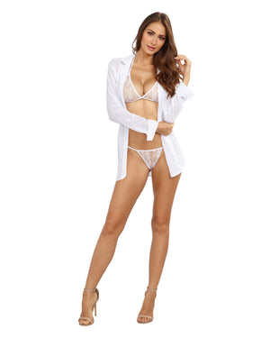 Sheer Chiffon Robe Bra Panty Set Robe Dreamgirl International