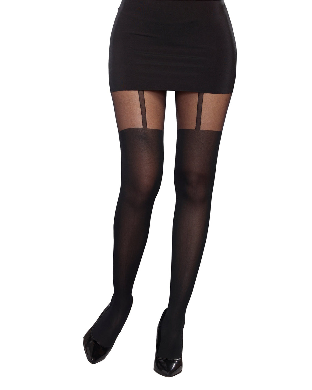 Sheer Pantyhose With Garters Costume Hosiery Dreamgirl Costume