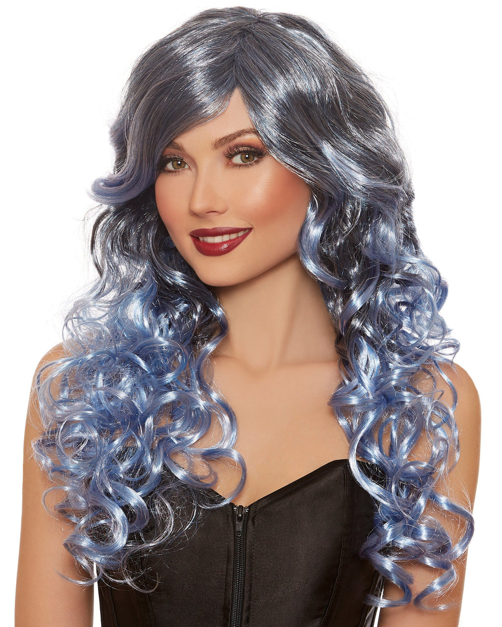 Silver Blue Ombré Wig Wig Dreamgirl Costume