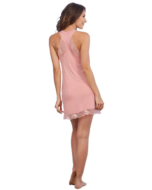 Soft Knit Jersey Sleepwear Chemise with Scoop Neckline Sleepwear Chemise Dreamgirl International