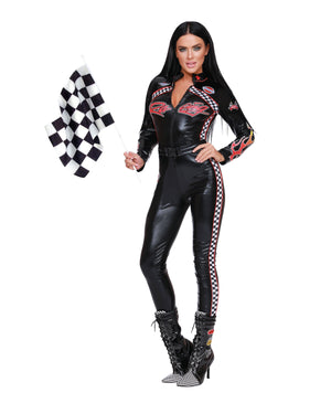 Start Your Engines Women's Costume Dreamgirl Costume