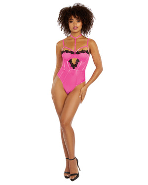 Stretch Mesh & Venise Lace Teddy Teddy Dreamgirl International