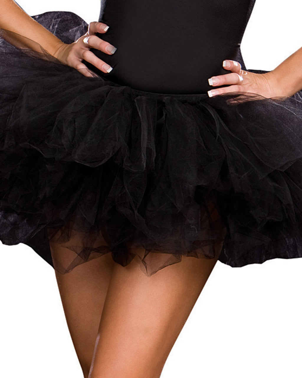 Tutu Petticoat Costume Accessory Dreamgirl Costume One Size Black