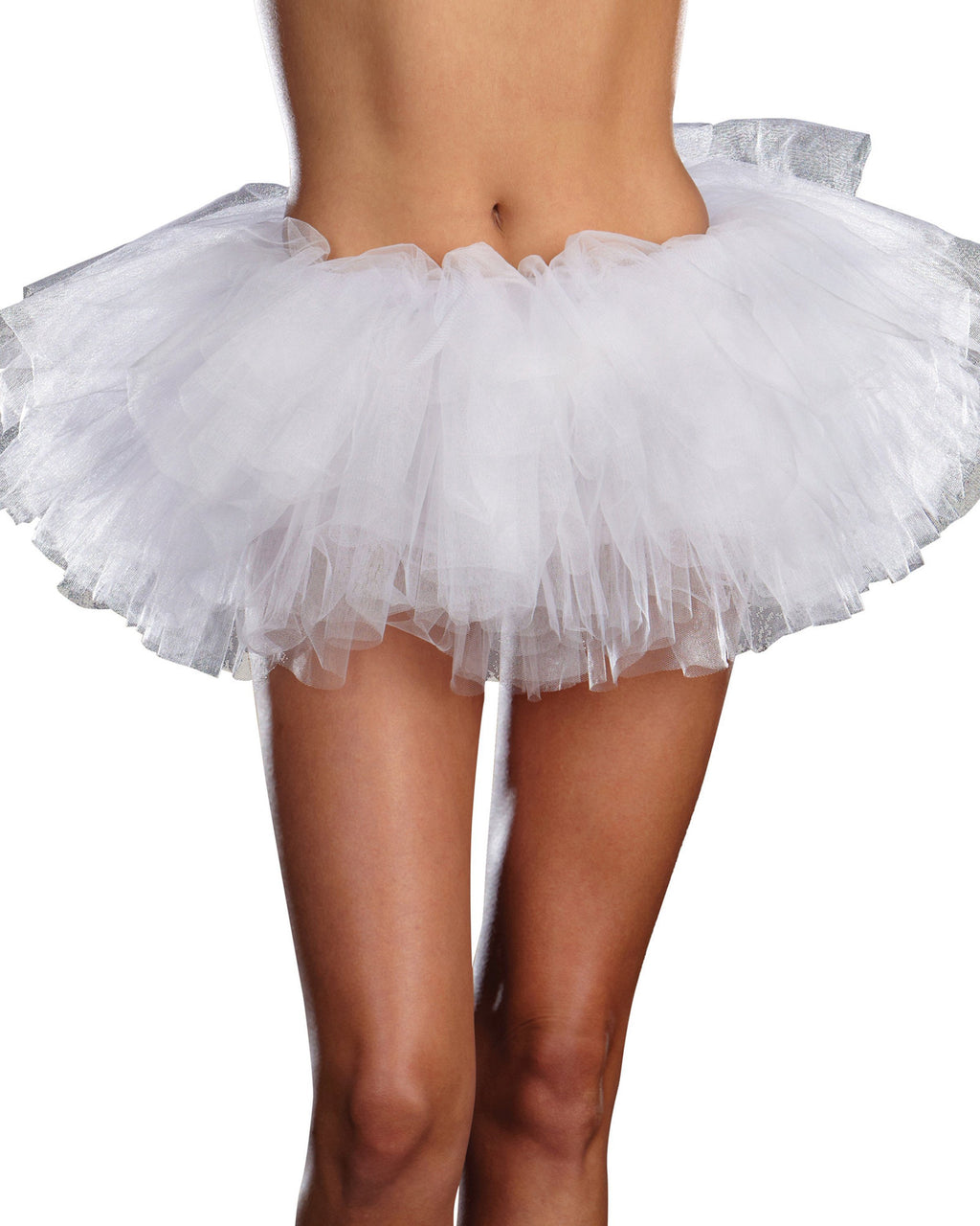Tutu Petticoat Costume Accessory Dreamgirl Costume One Size White