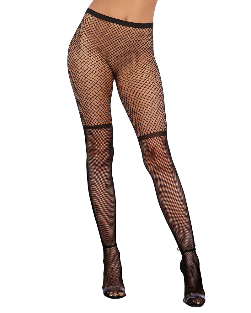 Two-Tone Pattern Fishnet Pantyhose Pantyhose Dreamgirl International