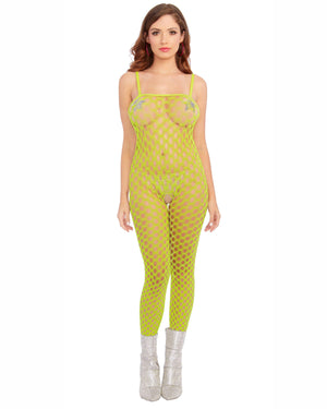Two-Way Convertible Neon Bodystocking Crop Top Bodystocking Dreamgirl International