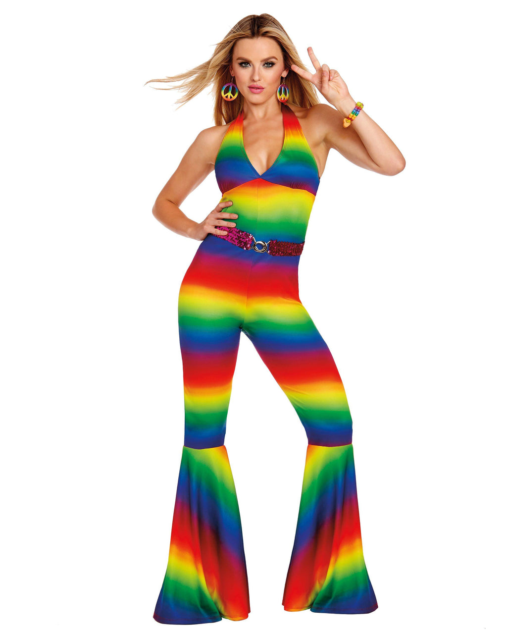 Women's Rainbow Women's Costume Dreamgirl Costume