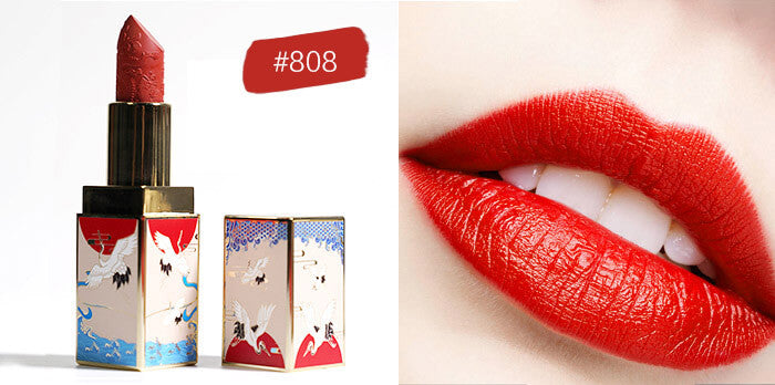 Dreamworld Carving Lipstick, Waterproof Long Lasting Satin Nourish Moisturizing Smooth Soft 0.13 Ounce-Chinese Style