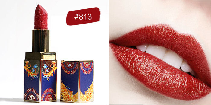 Rouge Matte Lipstick, Waterproof Long Lasting Satin Moisturizing Smooth Soft  Ounce-Chinese Style