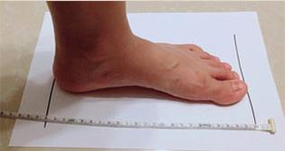 measure the foot length