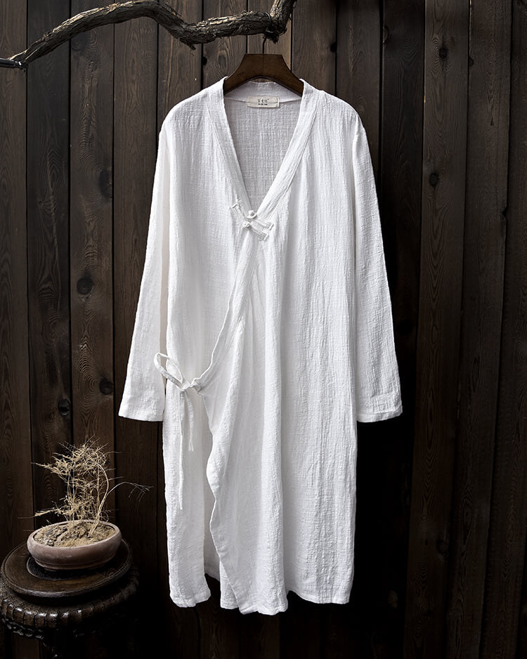 Li Ziqi Shop Buy Products Loose Cotton And Linen Retro Hanfu Long Section Shirt - Li Ziqi Fairy Style Clothes Hanfu Style