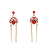 Hanfu Accessories Retro Pearl Crane Antique Style Ear Hook Earring