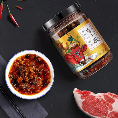 buy  Li Ziqi spicier Beef Sauce - Lose Control Over Your Cravings.  Spiced LiZiqi food product store channel recipes Online shop cooking
